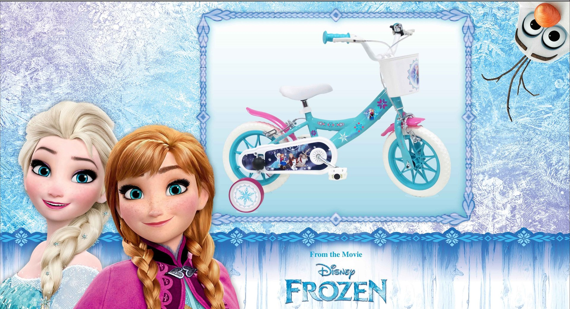 velo 12 disney reine des neiges frozen 2 - Disney La Reine Des Neiges
